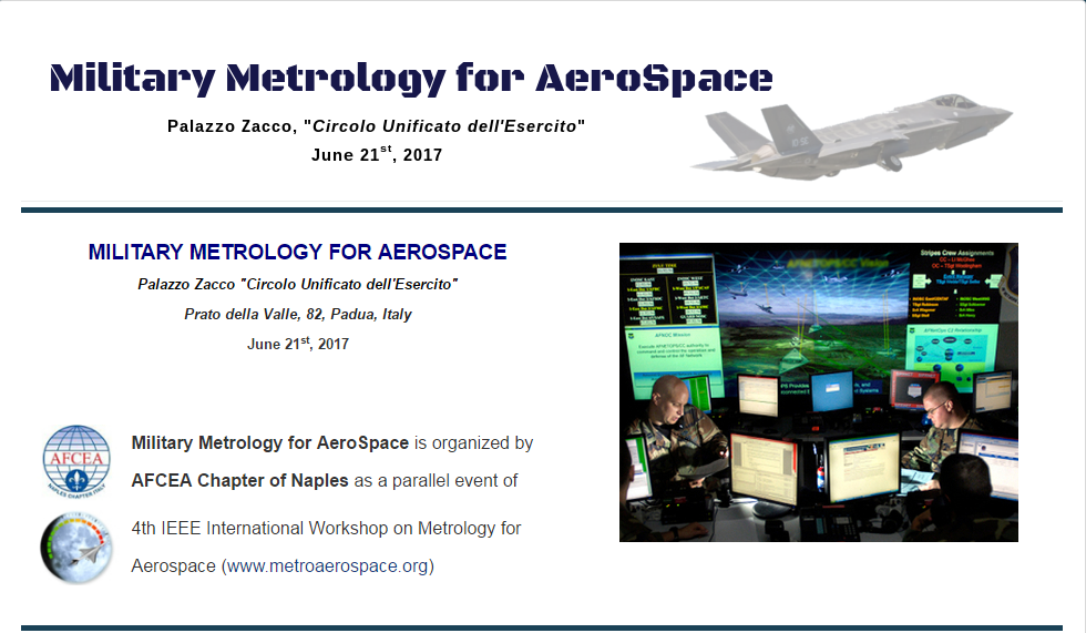 21 giugno Metrology for aerospace